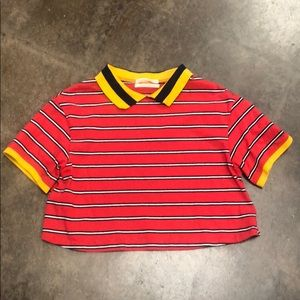 Urban Outfitters Cropped Top Striped Collar XS